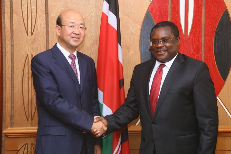The Chinese Ambassador courtesy call to the Speaker of the Senate