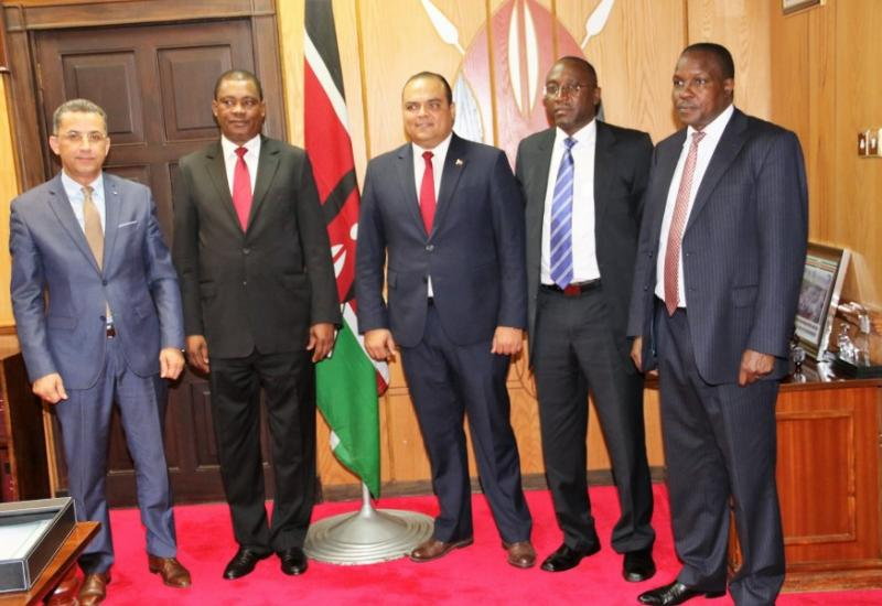 The Speaker of the National Assembly Hon. Justin Muturi hosts the Arab's Parliament Special Envoy, Hon. Soufien Toubal.