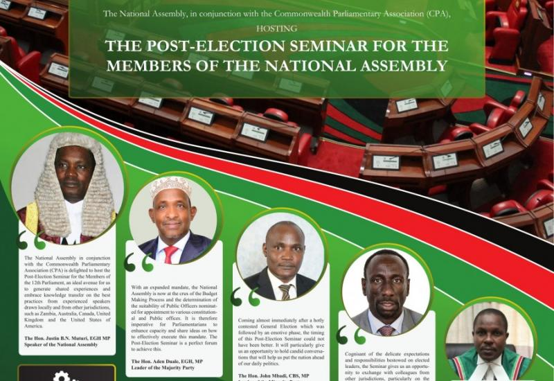 The National Assembly to hold a Post-Election Seminar for all Members in March, 2018