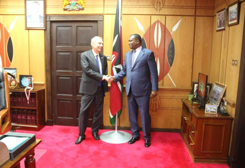 Speaker Muturi and Robert Godec