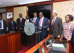 Hon. Samuel Chepkonga Sworn in as a Member of the Parliamentary Service Commission.