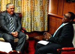 Cuban Ambassador to Kenya Calls on Speaker Lusaka