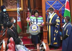 Senator Kavindu Muthama takes Oath of Office