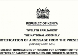 Notification of CS and PS nominees 2020